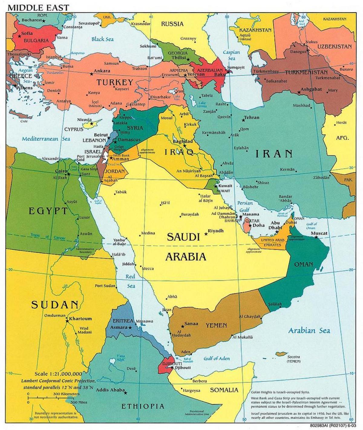 mellanöstern karta Jerusalem mellanöstern karta   Mellanöstern karta Jerusalem (Israel) mellanöstern karta